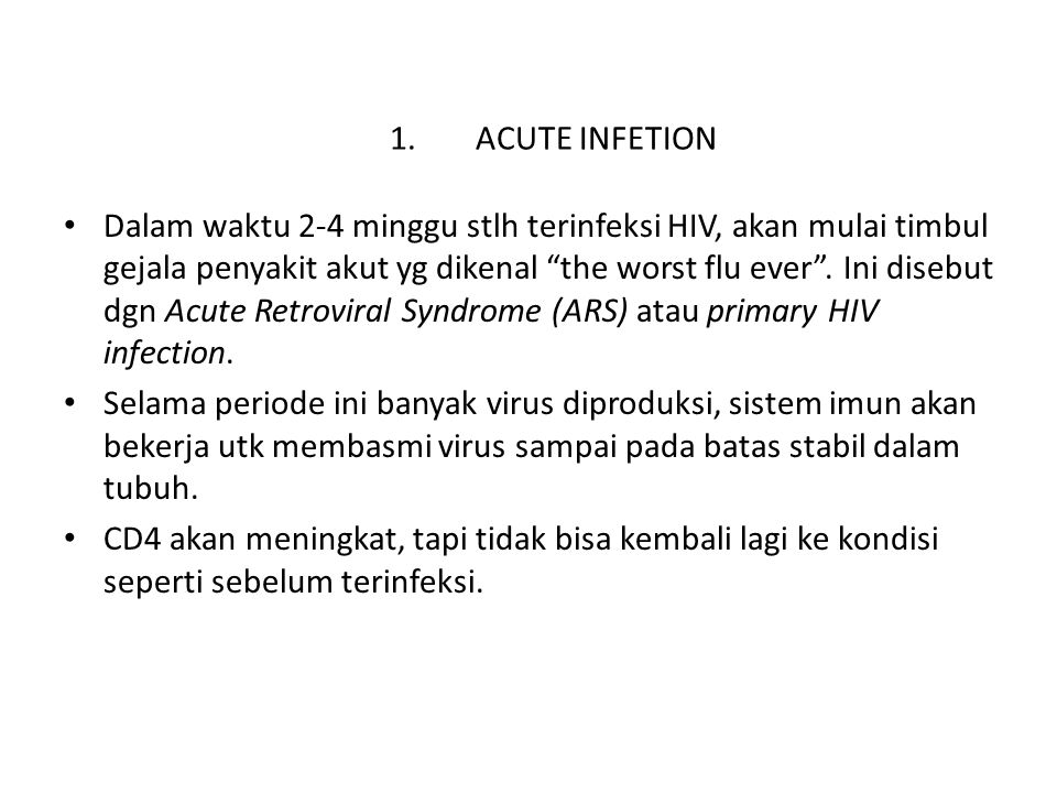 ACUTE INFETION
