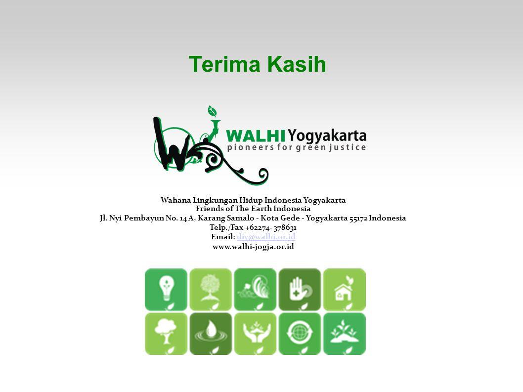 Terima Kasih Wahana Lingkungan Hidup Indonesia Yogyakarta