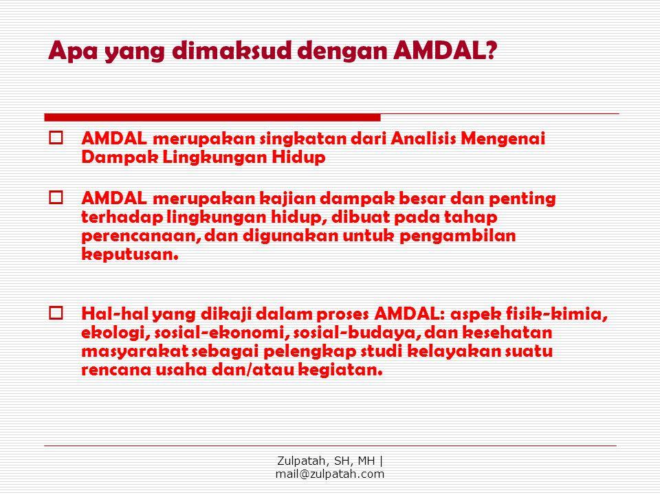 Apa yang dimaksud dengan AMDAL