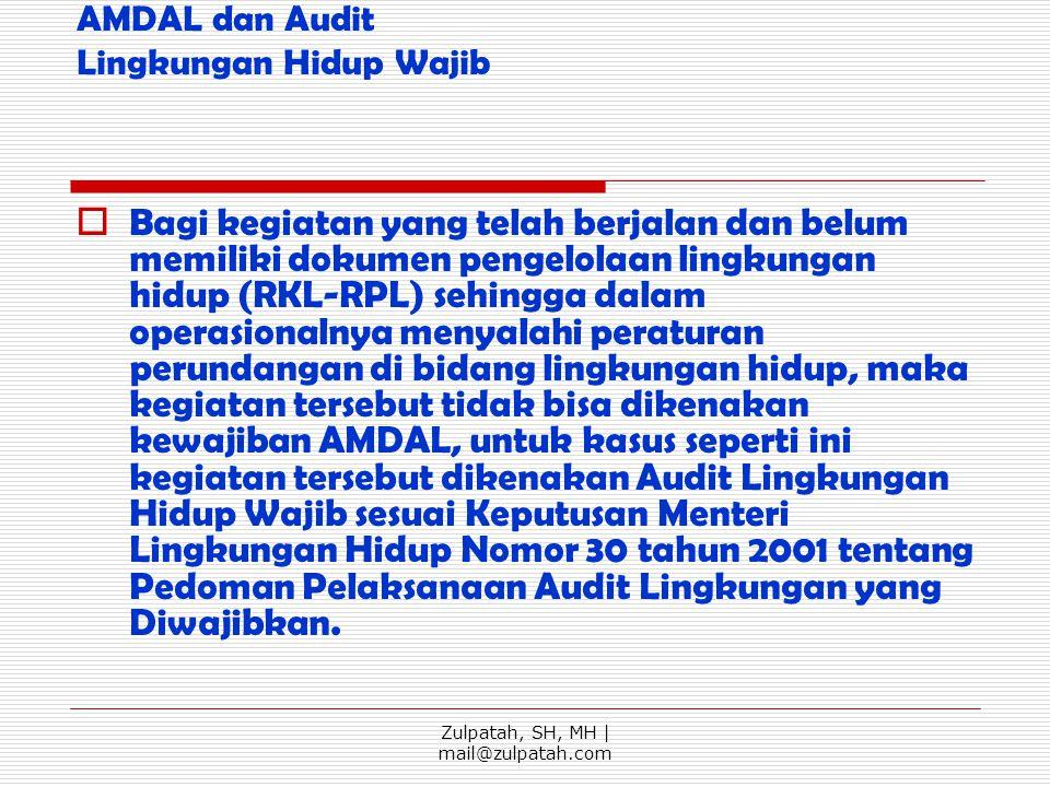 AMDAL dan Audit Lingkungan Hidup Wajib