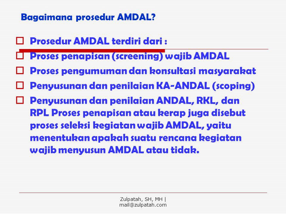 Bagaimana prosedur AMDAL