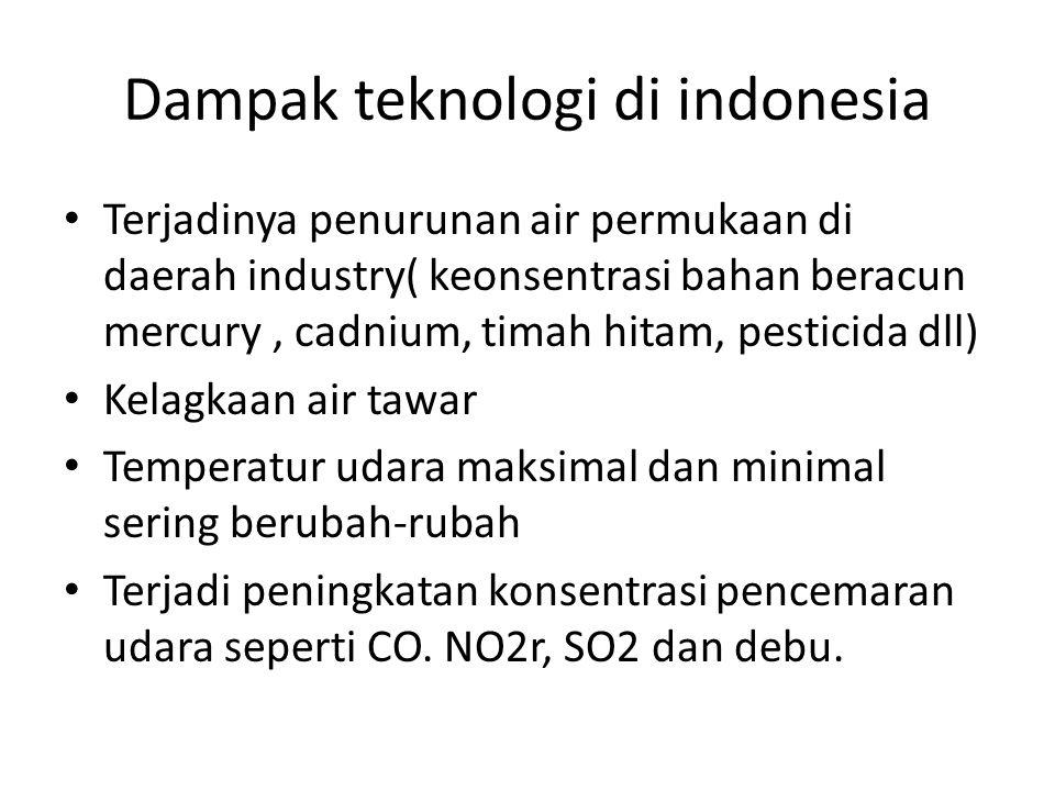 Dampak teknologi di indonesia