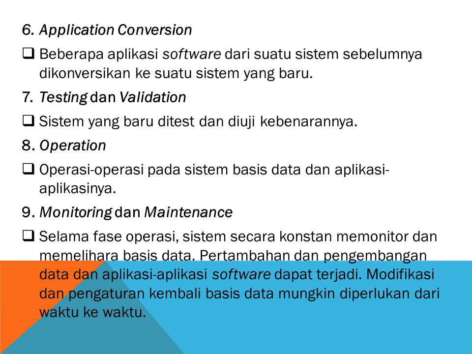Application Conversion