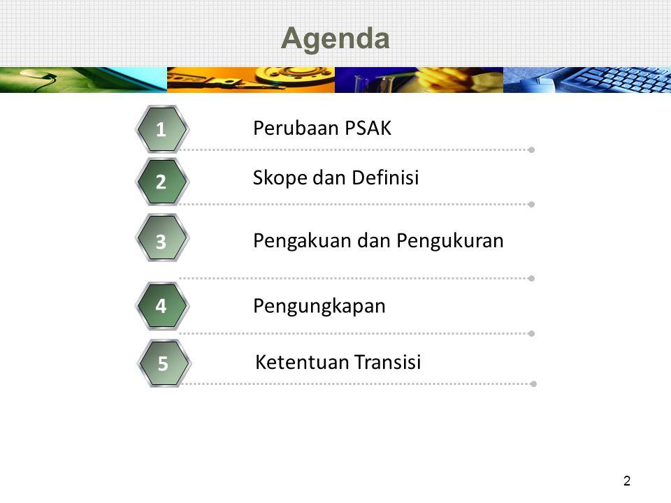 Agenda 1 Perubaan PSAK Skope dan Definisi 2 3 Pengakuan dan Pengukuran