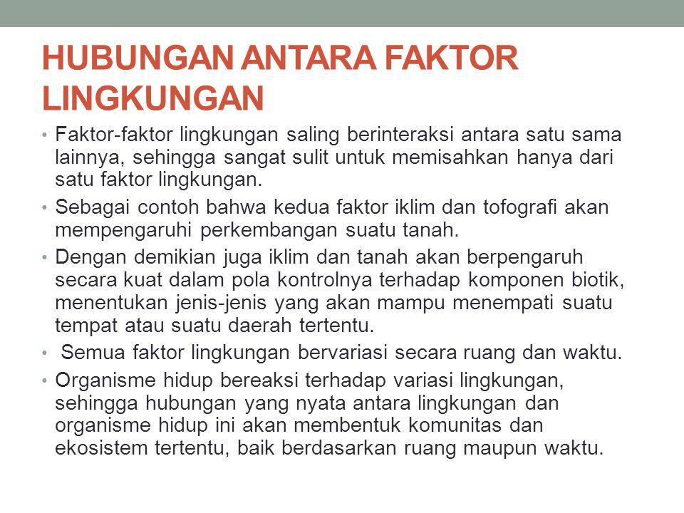 HUBUNGAN ANTARA FAKTOR LINGKUNGAN