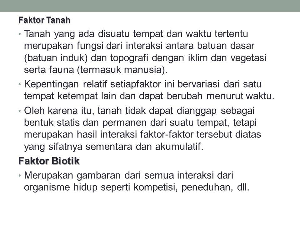 Faktor Tanah