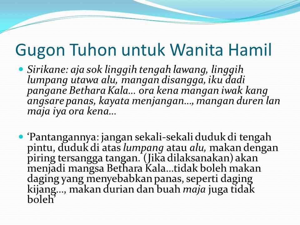 Gugon Tuhon untuk Wanita Hamil