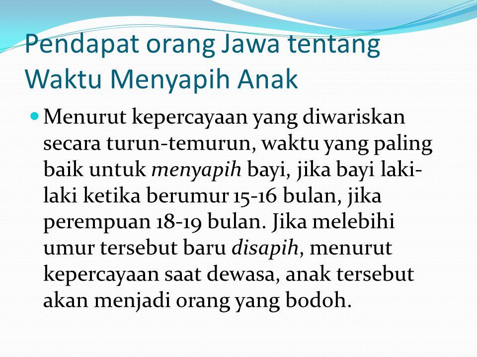 Pendapat orang Jawa tentang Waktu Menyapih Anak