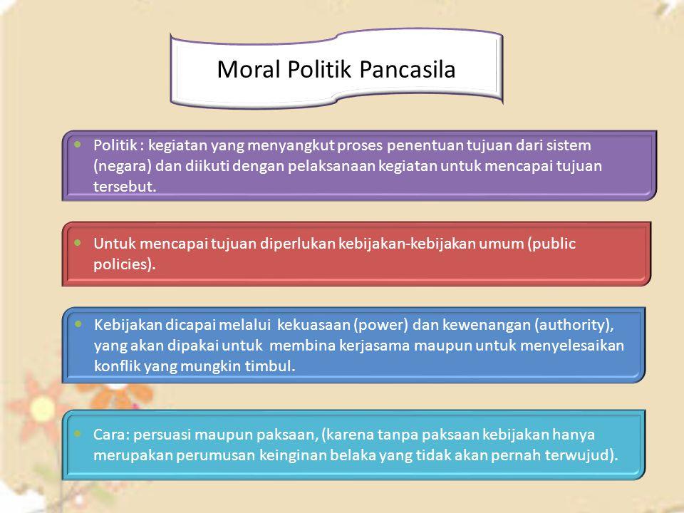 Moral Politik Pancasila