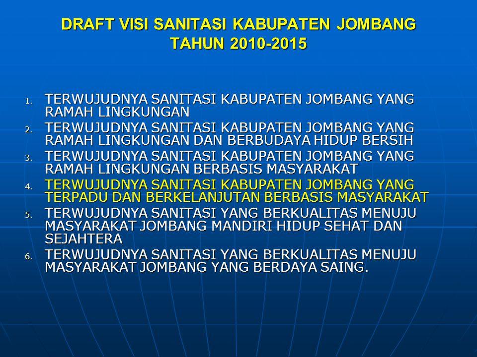 DRAFT VISI SANITASI KABUPATEN JOMBANG TAHUN 2010-2015