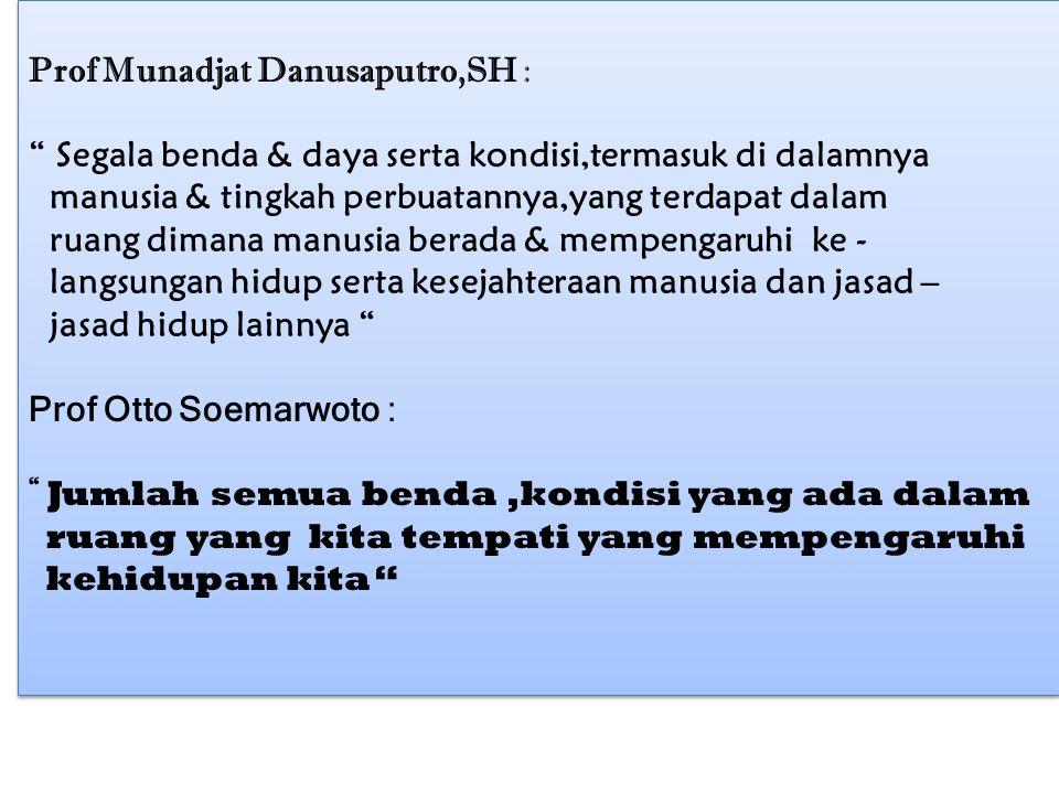 Prof Munadjat Danusaputro,SH :
