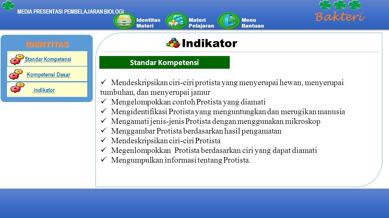 Bakteri Indikator Standar Kompetensi