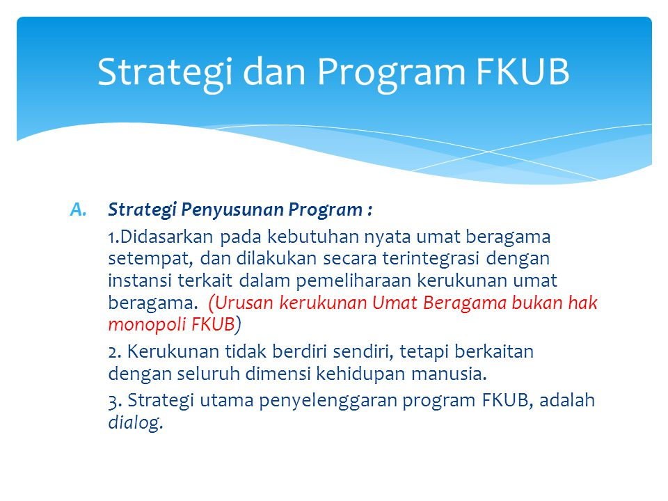 Strategi dan Program FKUB
