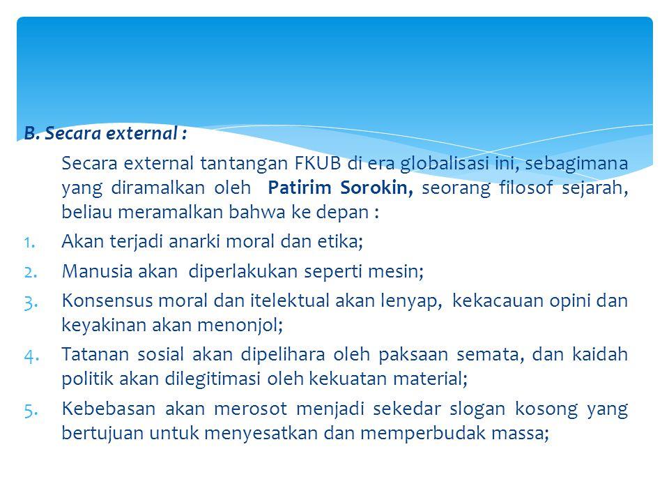 B. Secara external :