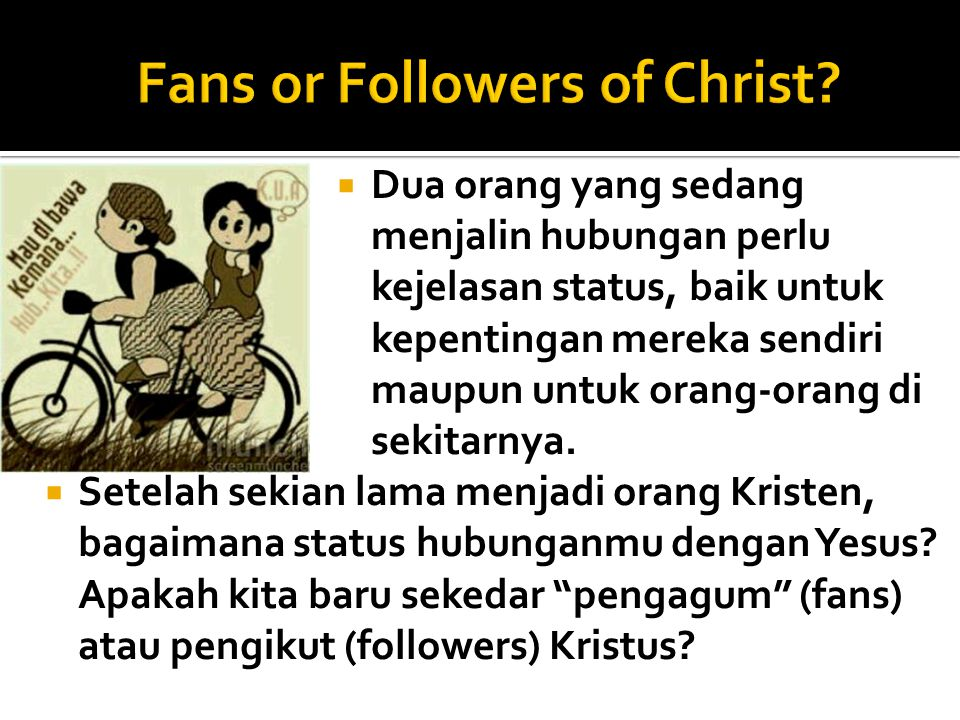 Fans or Followers of Christ