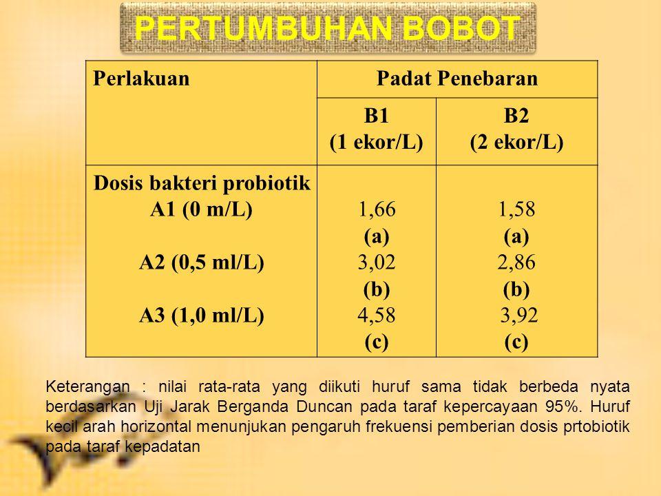 Dosis bakteri probiotik