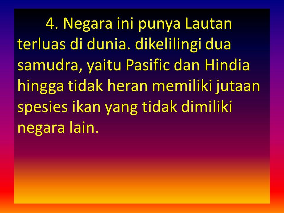 4. Negara ini punya Lautan terluas di dunia