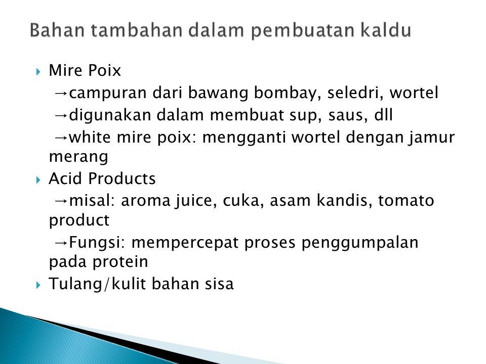 Bahan tambahan dalam pembuatan kaldu