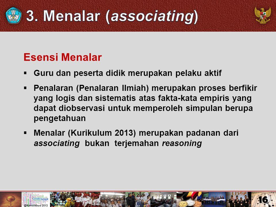 3. Menalar (associating)