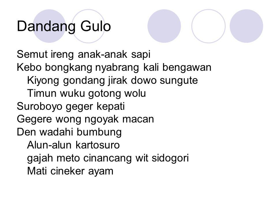 Dandang Gulo Semut ireng anak-anak sapi
