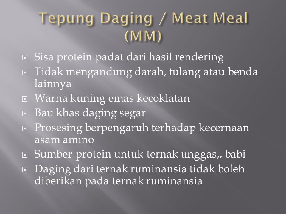 Tepung Daging / Meat Meal (MM)