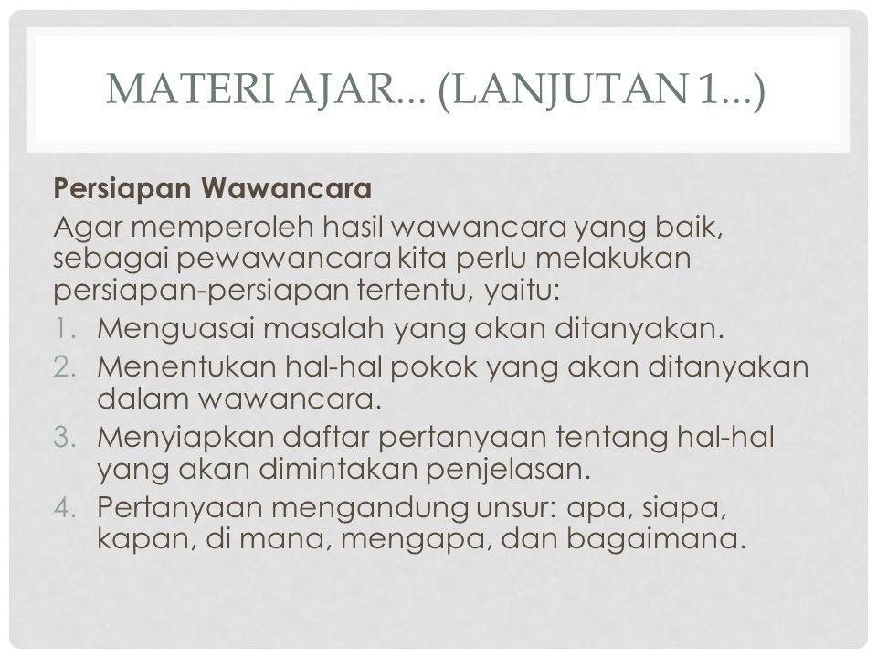 Materi ajar... (lanjutan 1...)