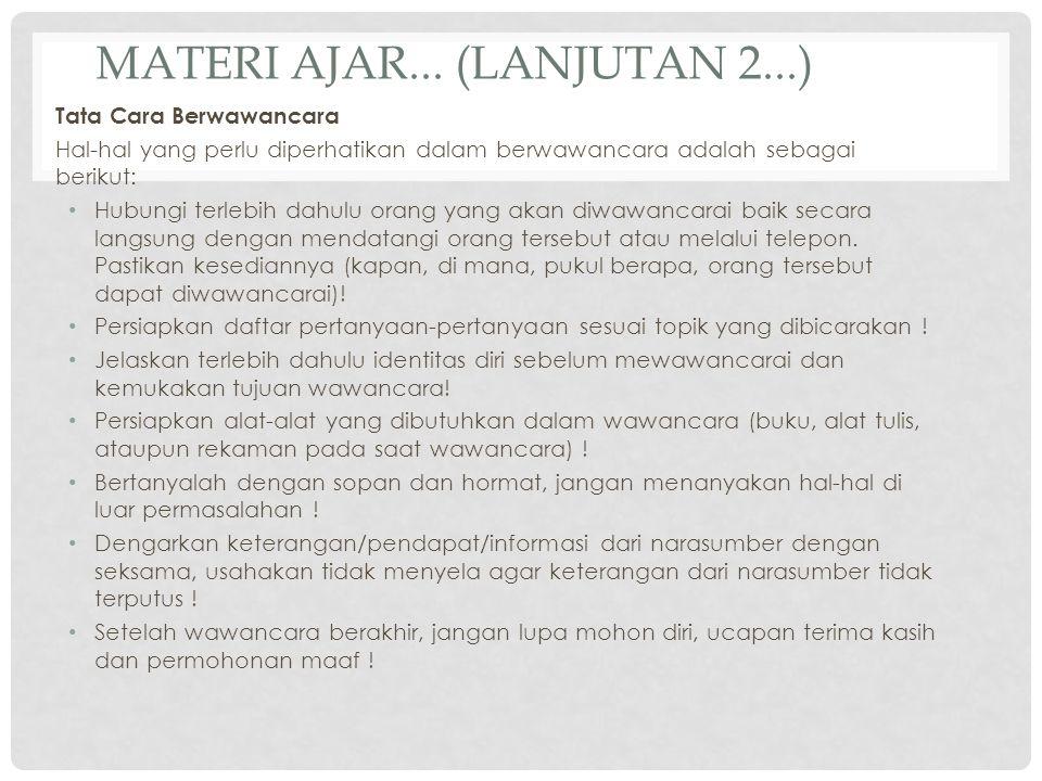 Materi ajar... (lanjutan 2...)
