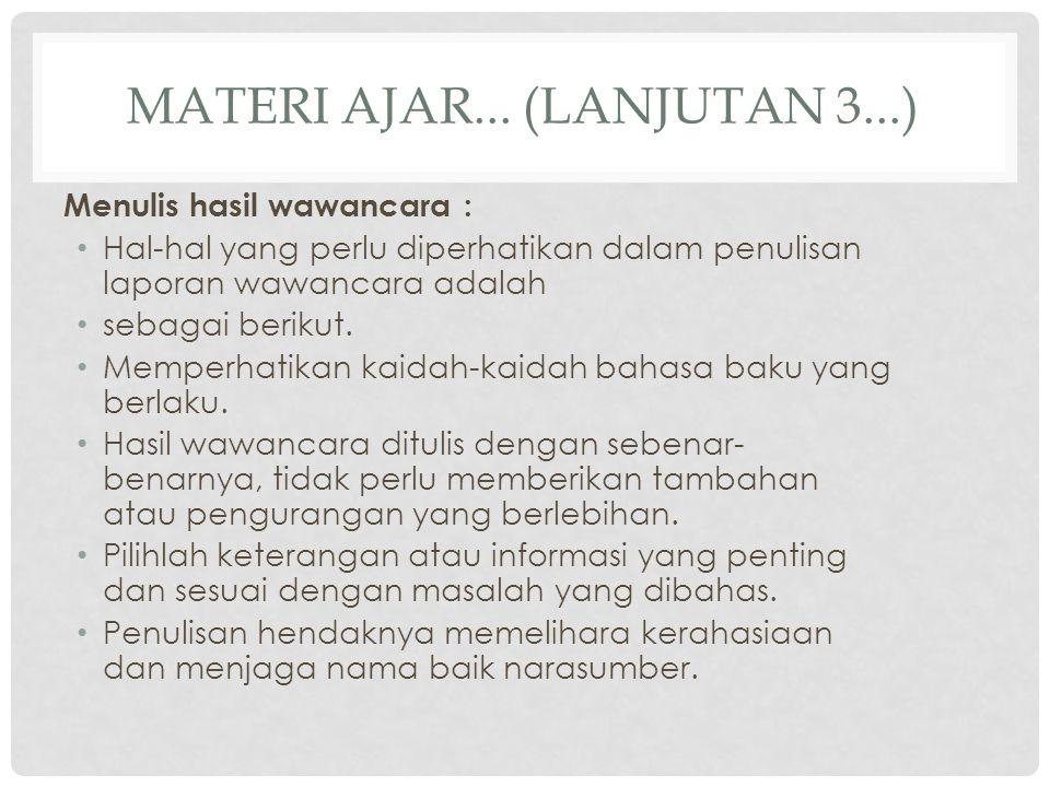 Materi ajar... (lanjutan 3...)