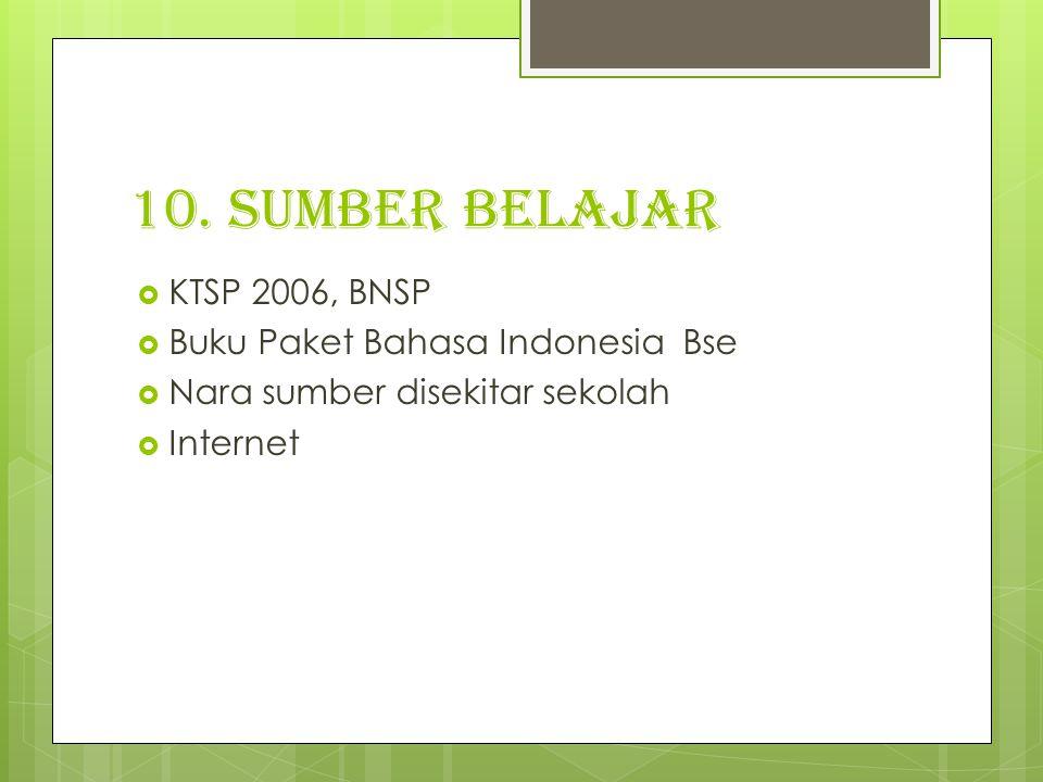 10. Sumber belajar KTSP 2006, BNSP Buku Paket Bahasa Indonesia Bse