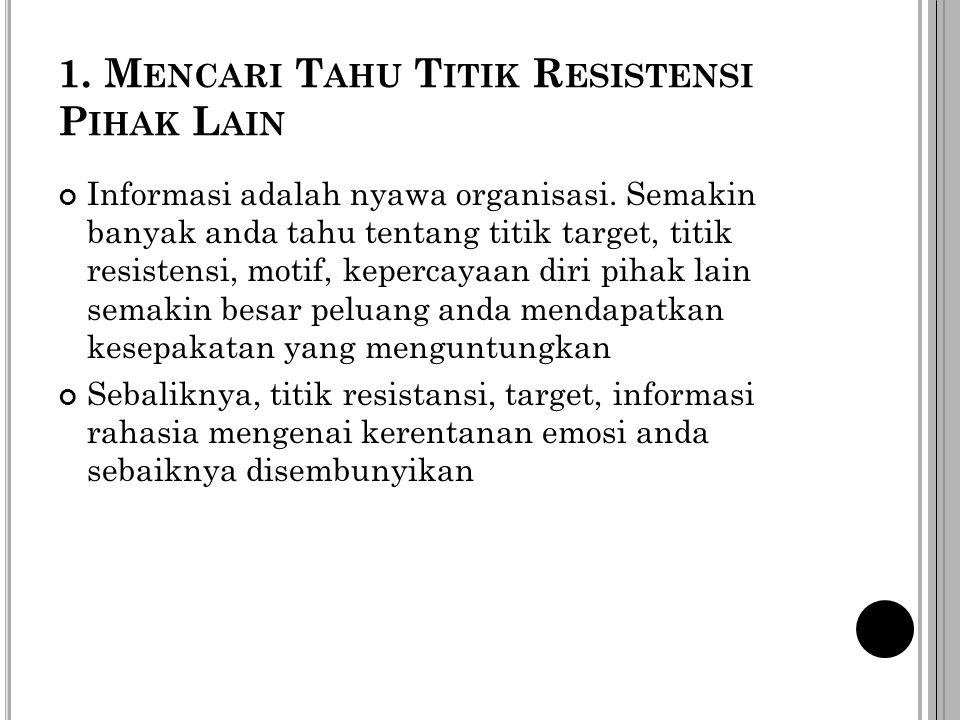 1. Mencari Tahu Titik Resistensi Pihak Lain