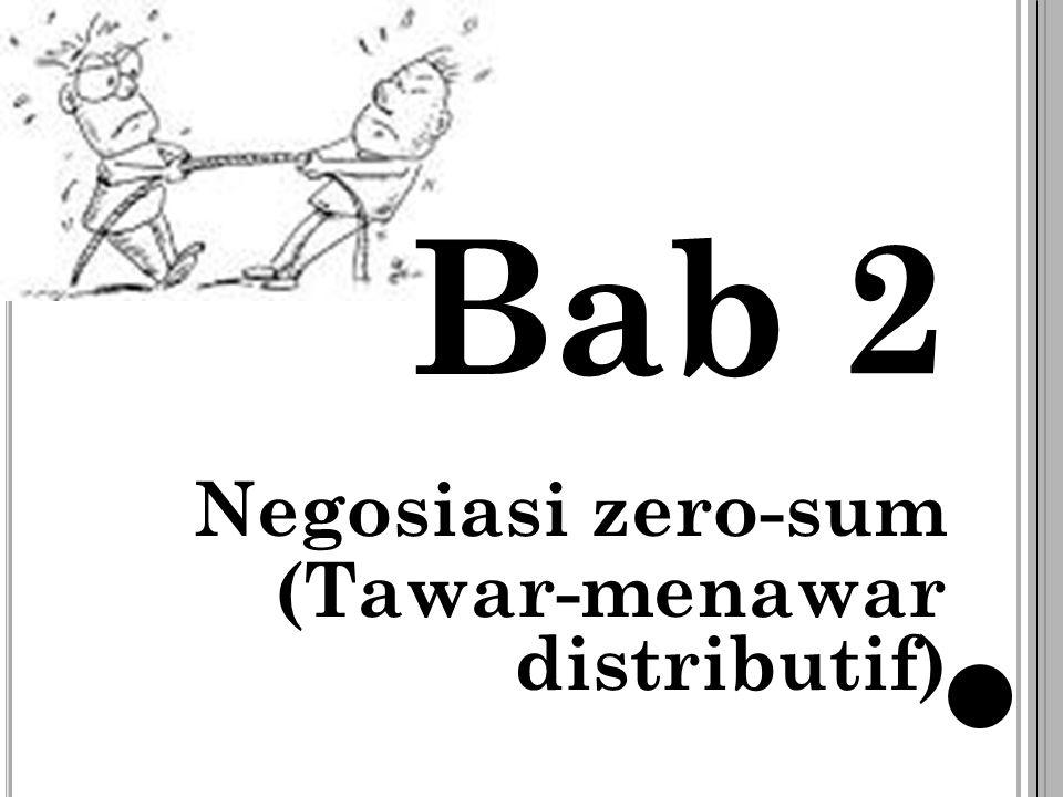 Bab 2 Negosiasi zero-sum (Tawar-menawar distributif)
