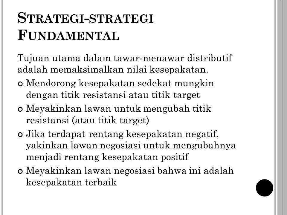 Strategi-strategi Fundamental