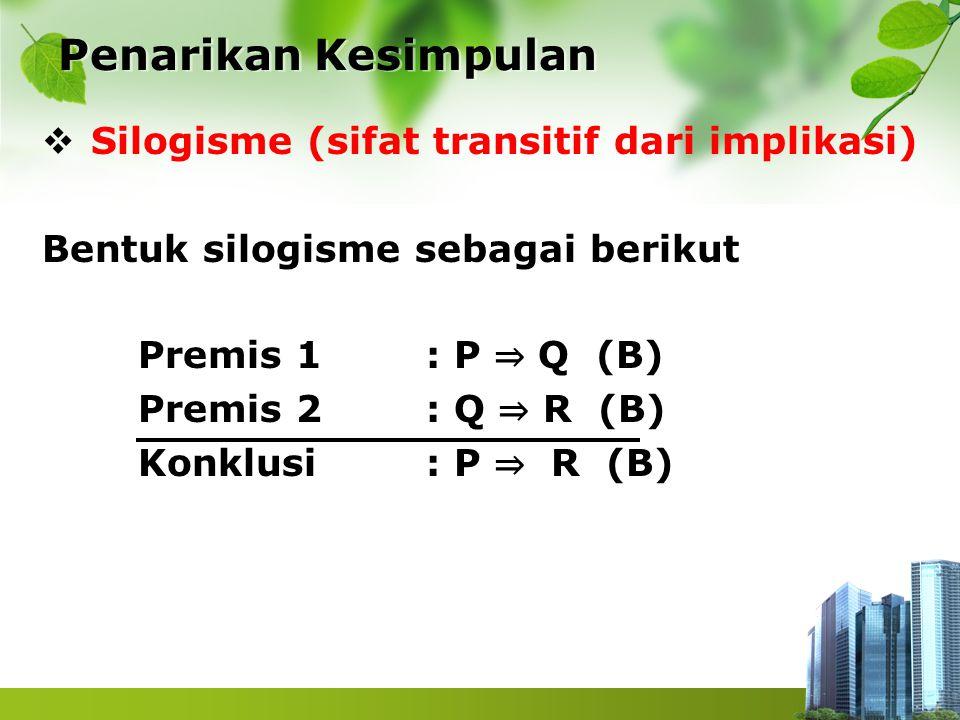 Penarikan Kesimpulan Silogisme (sifat transitif dari implikasi)