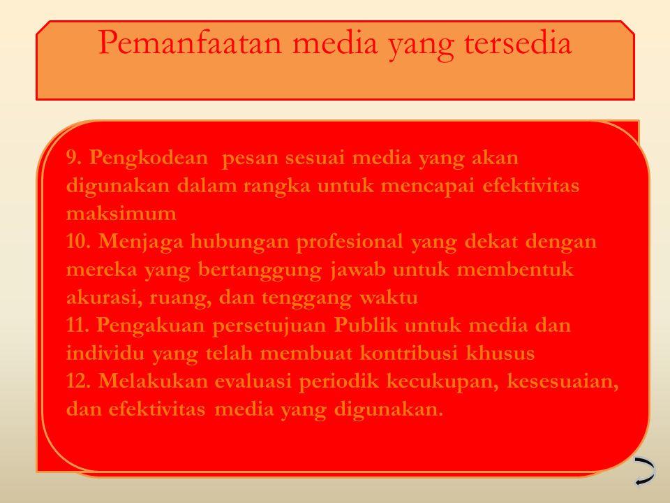Pemanfaatan media yang tersedia