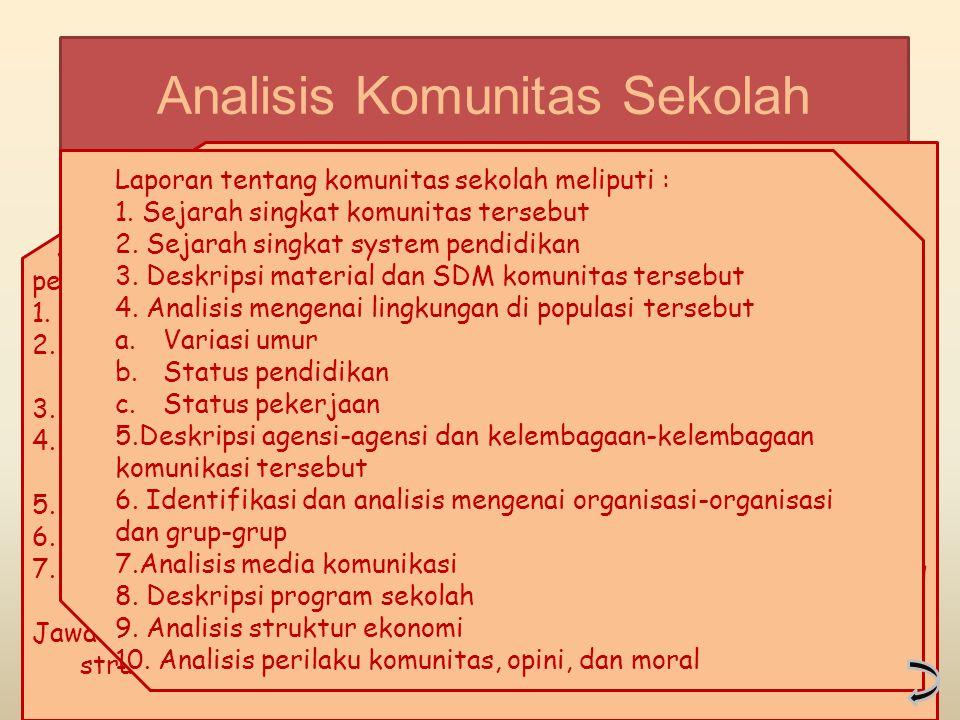 Analisis Komunitas Sekolah