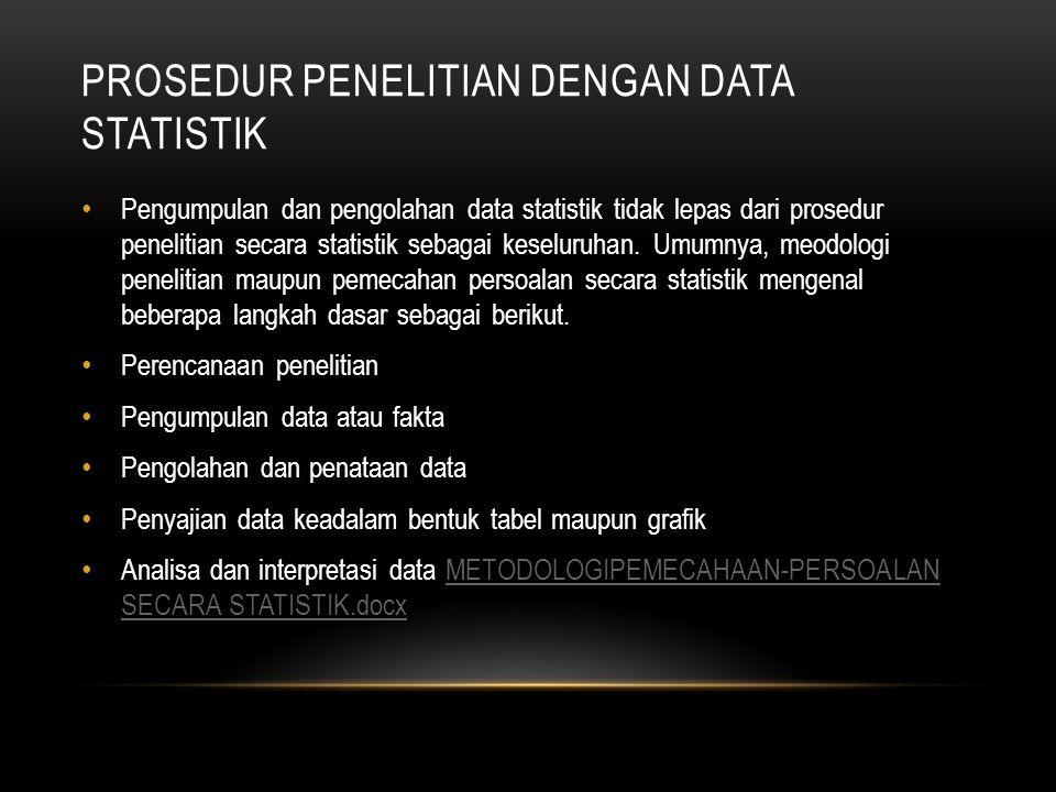 Prosedur penelitian dengan data statistik