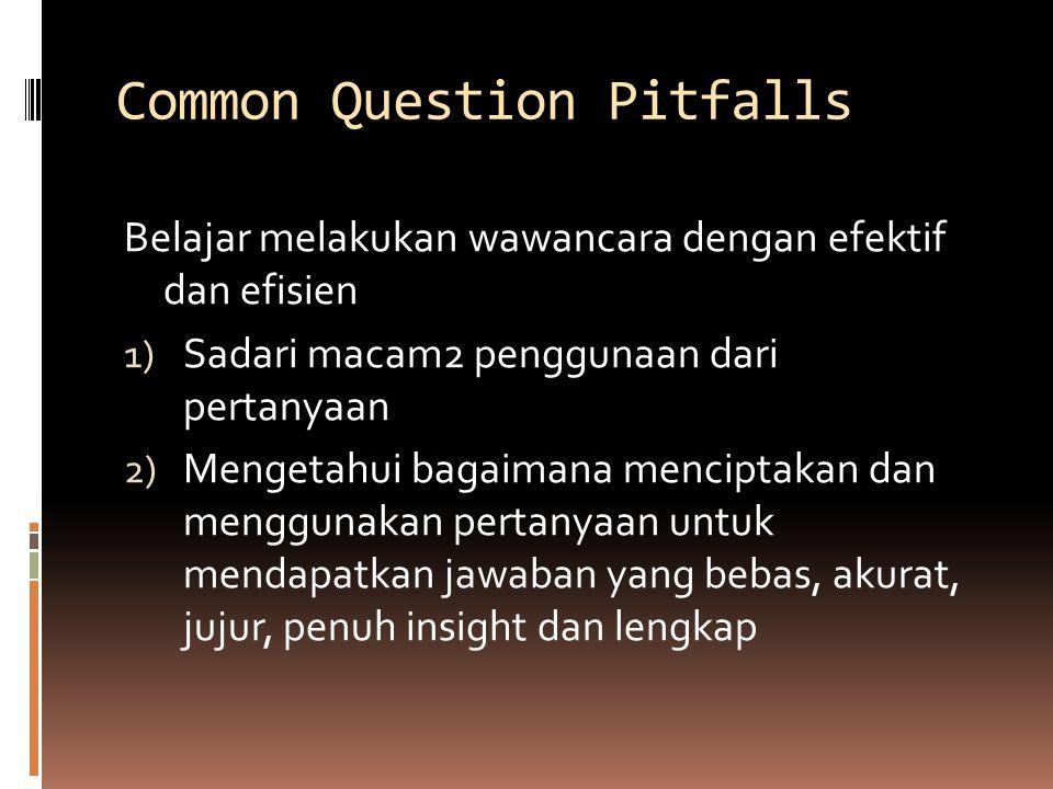 Common Question Pitfalls