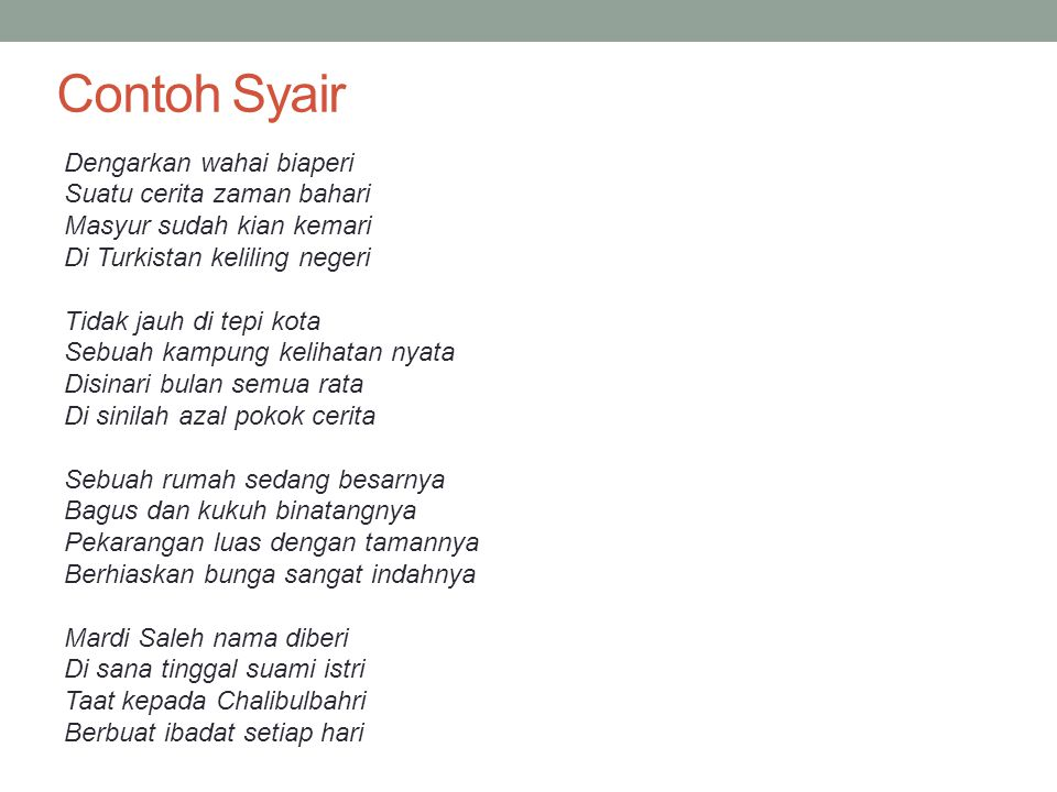 List Of Synonyms And Antonyms Of The Word Syair