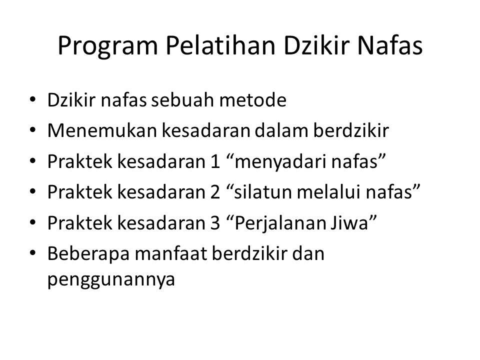 Program Pelatihan Dzikir Nafas