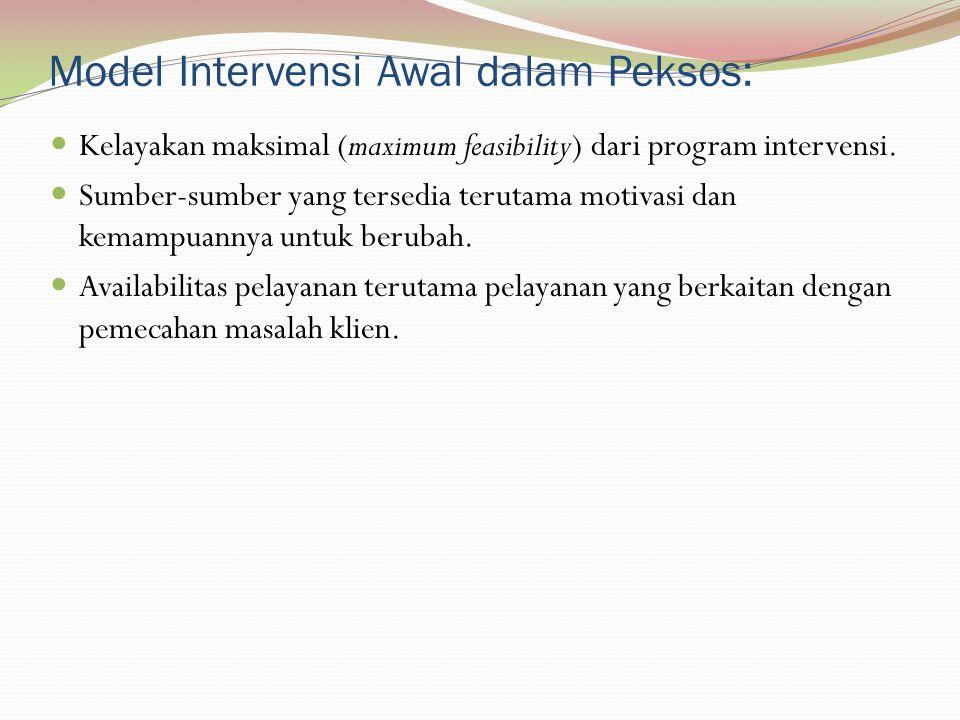 Model Intervensi Awal dalam Peksos: