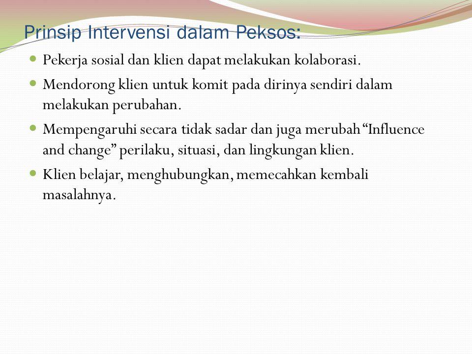 Prinsip Intervensi dalam Peksos: