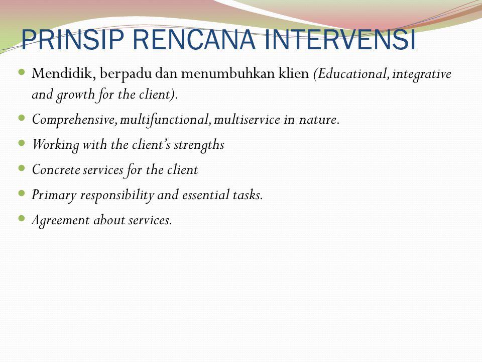 PRINSIP RENCANA INTERVENSI