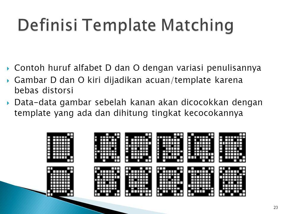 Definisi Template Matching