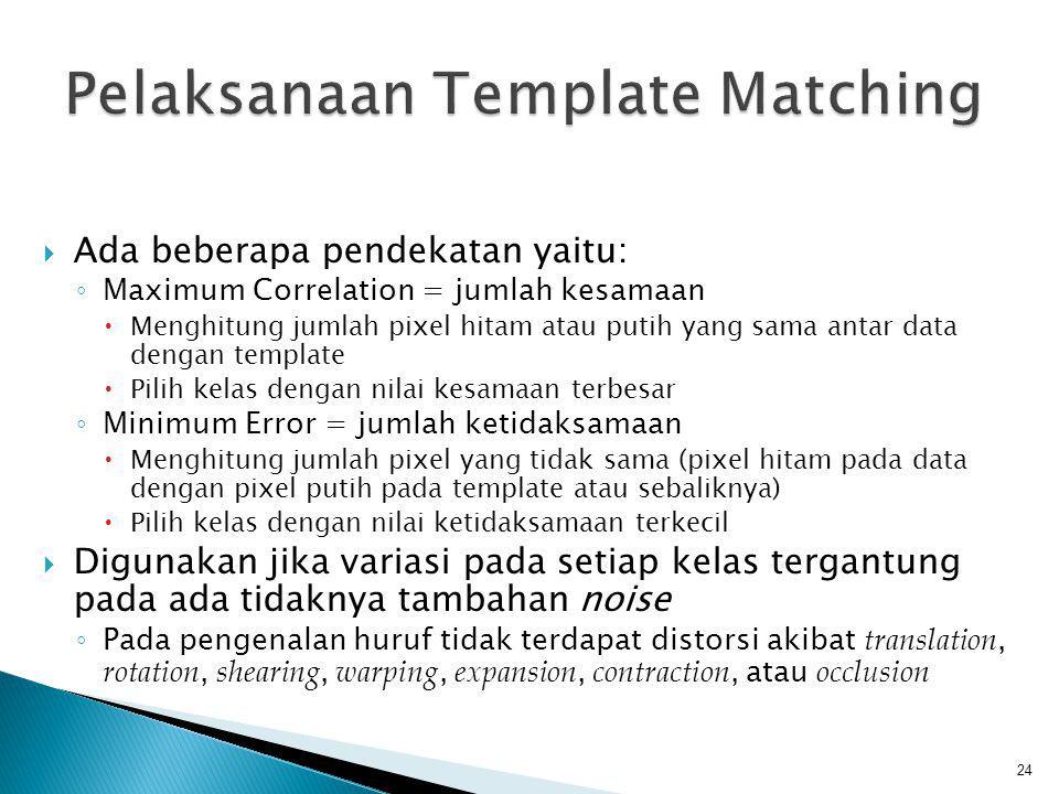 Pelaksanaan Template Matching