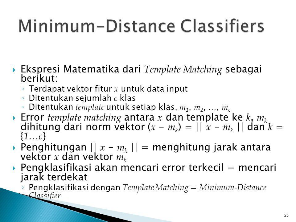 Minimum-Distance Classifiers