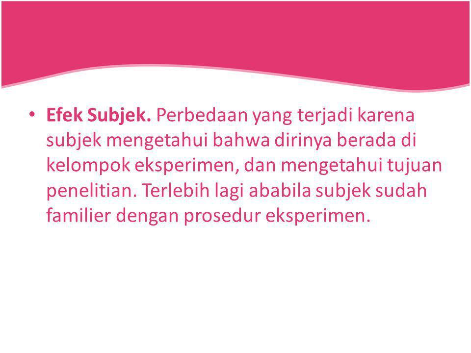 Efek Subjek.