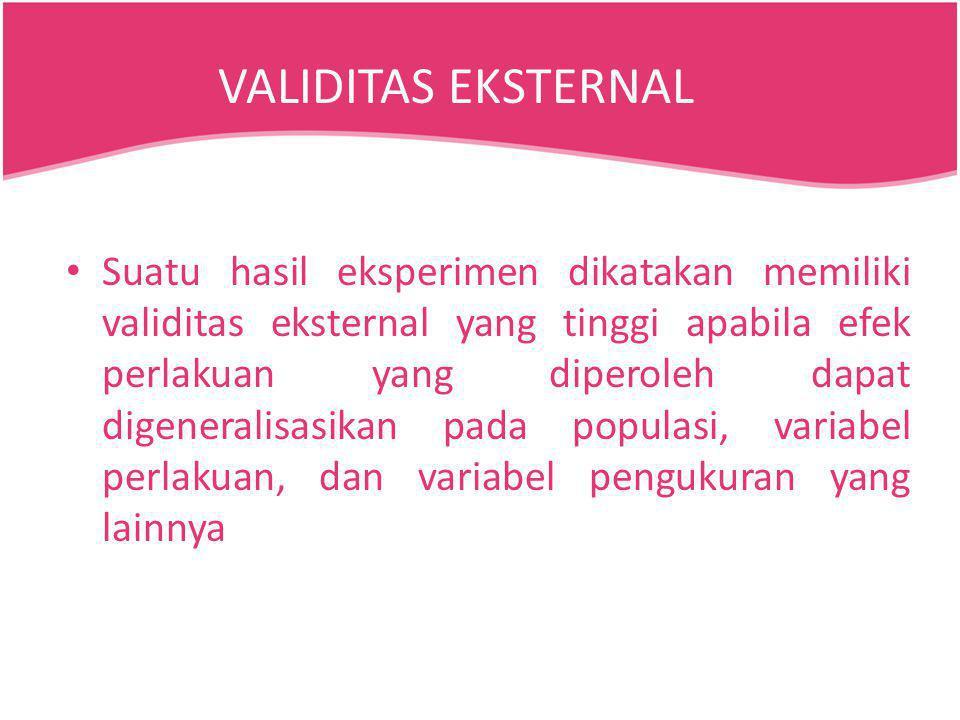 VALIDITAS EKSTERNAL