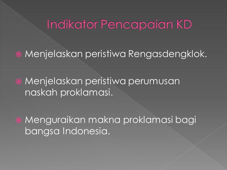 Indikator Pencapaian KD