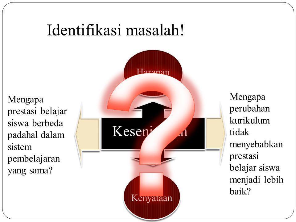 Identifikasi masalah! Kesenjangan Harapan