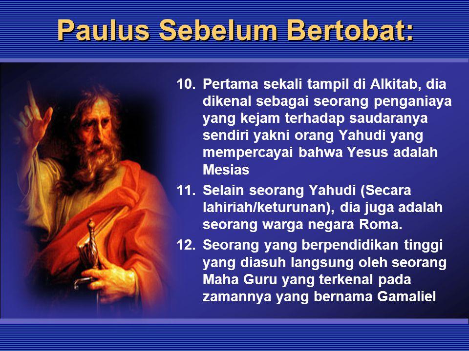 Paulus Sebelum Bertobat: